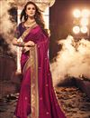 image of Party Style Designer Fancy Fabric Embroidered Saree In Burgundy