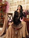 photo of Party Style Embroidered Black Georgette Fabric Fancy Sharara Suit