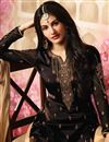 picture of Party Style Embroidered Black Georgette Fabric Fancy Sharara Suit