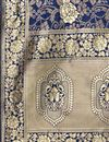 photo of Banarasi Silk Fabric Fancy Navy Blue Color Dupatta For Function Wear