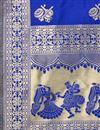 photo of Function Wear Blue Color Fancy Banarasi Silk Fabric Dupatta
