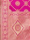 photo of Wedding Wear Rani Color Dupatta In Banarasi Silk Fabric