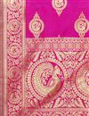 photo of Sangeet Wear Banarasi Silk Fabric Dupatta In Magenta Color