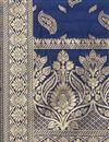 photo of Festive Wear Navy Blue Color Dupatta In Banarasi Silk Fabric