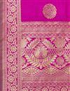 photo of Weaving Work Party Wear Fancy Banarasi Silk Fabric Dupatta In Magenta Color