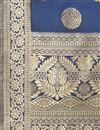 photo of Party Wear Fancy Weaving Work Navy Blue Color Dupatta In Banarasi Silk Fabric
