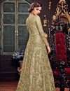 photo of Sangeet Wear Sea Green Floor Length Embroidered Anarkali Dress