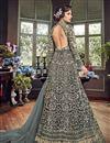 photo of Net Fabric Long Floor Length Designer Embellished Anarkali Suit In Grey