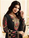 photo of Ayesha Takia Designer Party Wear Black Color Georgette Fabric Embroidered Salwar Suit