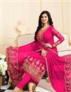 photo of Ayesha Takia Party Wear Fancy Pink Color Georgette Fabric Designer Embellished Salwar Suit