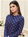 photo of Enlivening Blue Color Embroidered Anarkali Suit In Silk Fabric Featuring Mouni Roy