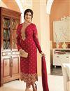 image of Ayesha Takia Georgette Straight Cut Churidar Suit