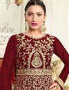 photo of Wedding Special Gauhar Khan Long Floor Length Brown Anarkali Dress