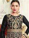 photo of Wedding Special Gauhar Khan Black Floor Length Designer Anarkali Salwar Suit