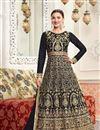 image of Wedding Special Gauhar Khan Black Floor Length Designer Anarkali Salwar Suit