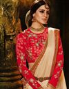 photo of Cream Fancy Function Wear Designer Saree With Embellished Blouse