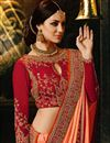 photo of Orange Art Silk Embroidered Wedding Wear Designer Saree With Fancy Blouse