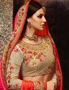 photo of Art Silk Orange Designer Wedding Function Wear Saree With Heavy Blouse