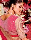 photo of Function Wear Red Plain Fancy Saree with Lace Border And Embellished Blouse