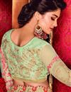 photo of Designer Plain Saree with Lace Border And Embroidered Blouse In Pink