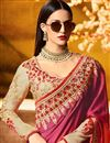 picture of Embroidered Fancy Designer Saree In Red And Rani