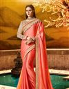 image of Wedding Wear Fancy Fabric Pink Designer Saree