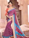 image of Impressive Casual Wear Cotton Saree In Purple Color