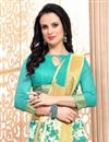 photo of Pleasing Off White Color Casual Printed Saree In Cotton Fabric