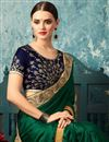 photo of Dark Green Art Silk Occasion Wear Saree With Embroidery Designs