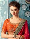 photo of Crimson Color Festive Wear Embroidered Saree In Art Silk With Blouse