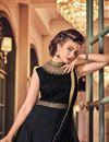 photo of Designer Function Wear Fancy Black Anarkali Salwar Kameez In Banglori Silk