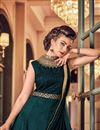 photo of Party Wear Fancy Banglori Silk Floor Length Anarkali Dress In Teal