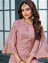 photo of Georgette Function Wear Designer Suit In Pink With Embroidery