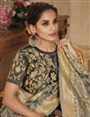 photo of Jacquard Work Grey Wedding Wear Banarasi Silk Saree With Blouse