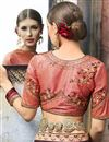photo of Brown Georgette Zari And Thread Work Embellished Designer Saree