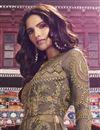 photo of Designer Dark Beige Net Fabric Function Wear Embroidered Long Length Anarkali Suit