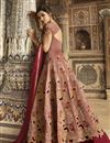 picture of Taffeta Fabric Burgundy Color Designer Heavy Embroidery Work Reception Wear Long Length Anarkali Suit