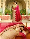 photo of Designer Wedding Function Wear Pink Color Chiffon Saree With Fancy Blouse