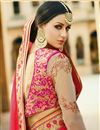 photo of Wedding Wear Fancy Red Color Silk Designer Saree With Embroidered Blouse