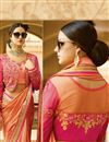 photo of Function Wear Designer Fancy Peach Color Silk Saree With Embellished Blouse