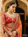photo of Festive Wear Designer Orange Color Silk Embroidered Saree With Fancy Blouse