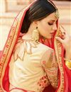 photo of Function Wear Designer Fancy Red Color Chiffon Saree With Embellished Blouse