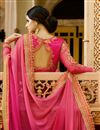photo of Wedding Party Wear Pink Color Chiffon Designer Saree With Stylish Blouse