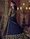 photo of Function Wear Embroidered Banglori Silk Lehenga Choli In Navy Blue