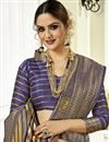 photo of Designer Saree In Art Silk Fabric Blue Color With Weaving Work And Party Wear Blouse