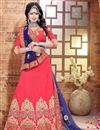 image of Pink Color Stylish 3 Piece Designer Lehenga Choli In Silk Fabric