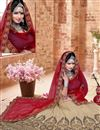 photo of Cream Color 3 Piece Embroidered Lehenga Choli In Silk Fabric