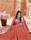 photo of Red Color Charming Designer Embroidered Silk Fabric Lehenga Choli
