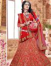 image of Red Color Charming Designer Embroidered Silk Fabric Lehenga Choli