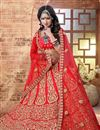 photo of Red Color 3 Piece Embroidered Lehenga Choli In Silk Fabric